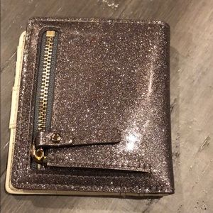 kate spade Bags - Kate Spade Wallet smooth silver super sparkly NWOT